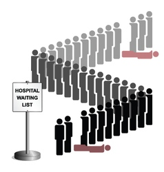 Hospital Waiting List vector image vector image