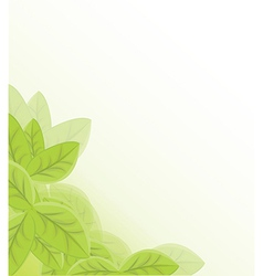 Leaf background vector image