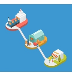 Manufacture Logistic infographic concept vector image vector image