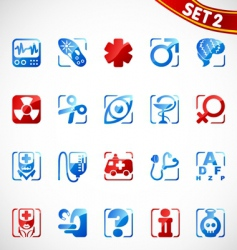 medical icons new vector image vector image