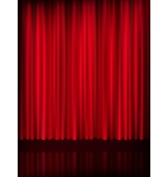 Red curtain background template EPS 10 vector image