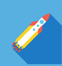 startup rocket icon business concept vector image