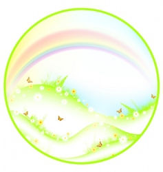 summer or spring theme vector image