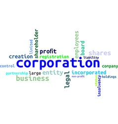 word cloud corporation vector image