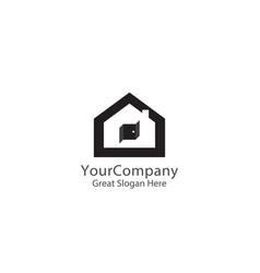 abstract house logo icon design home sign concept vector image
