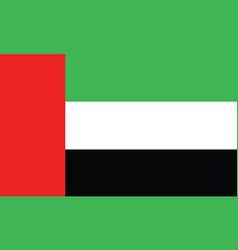 dubai flag official colors and proportion vector image
