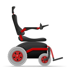 electric wheelchair for disabled people stock vector image
