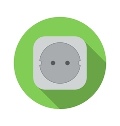 Electric white socket flat icon vector image