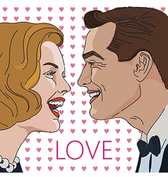 Greeting card for Valentine Day with couple vector image vector image