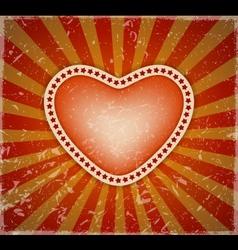 Retro love theme background vector image vector image