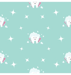 Seamless Pattern Brush Paste Tooth health Sparkle vector image