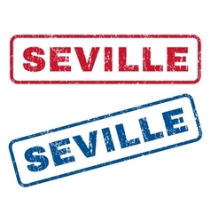 Seville Rubber Stamps vector image vector image
