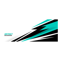 abstract turquoise geometric shapes sports vector image