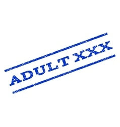 Adult XXX Watermark Stamp vector image