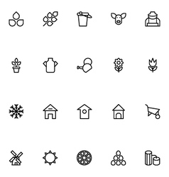 Agriculture Line Icons 1 vector