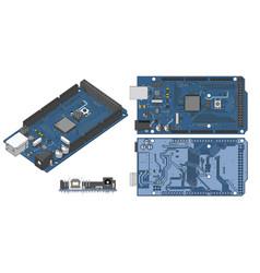 Arduino mega microcontroller vector