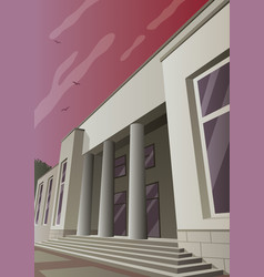 Art deco museum vector