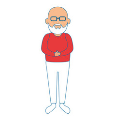 Avatar grandfather icon vector