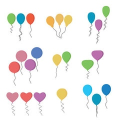 Balloons collection isolated on white background vector