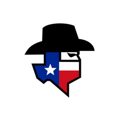 bandit texas flag icon vector image