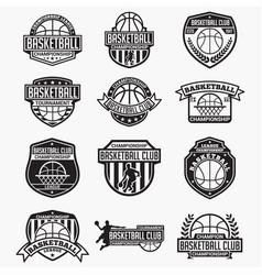 basketball club logo badge vector image