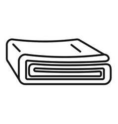 Bed blanket icon outline style vector