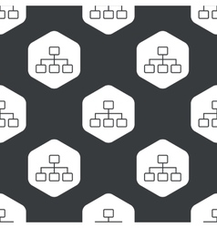 Black hexagon scheme pattern vector image
