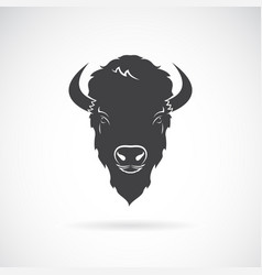 buffalo head design on white background wild vector image