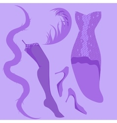 Burlesque retro look vector