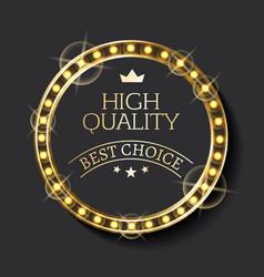 business logo best choice guarantee mark vector image