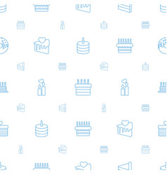 cake icons pattern seamless white background vector image