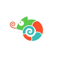 Chameleon logo vector