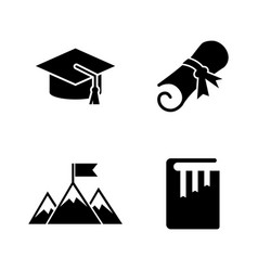 College and higher education simple related vector