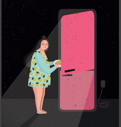 Colorful featuring late night fridge vector