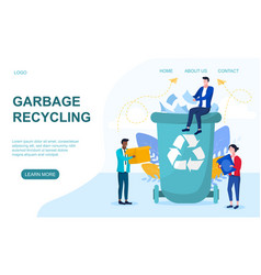 concept garbage recycling vector image
