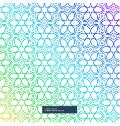 creative colorful flower style background vector image