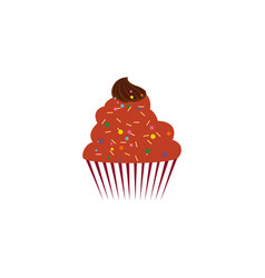 cup cake dessert logo vector image