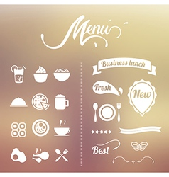 Design Elements menu vector image