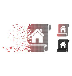 disappearing pixel halftone realty description vector image