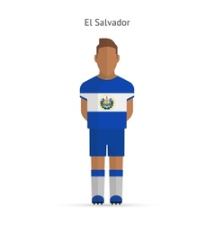 El Salvador football player Soccer uniform vector