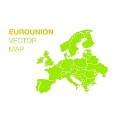 Euro union map vector image
