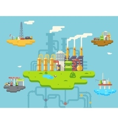 Factory Refinery Plant Manufacturing Products vector