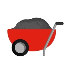 Filled wheelbarrow icon vector