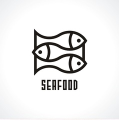 Fish isolated icon vector image