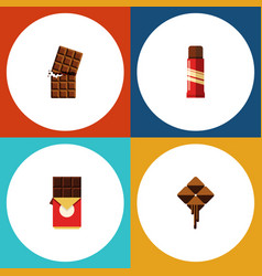 flat icon sweet set of delicious wrapper sweet vector image