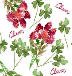 Floral Pattern Clover Flowers vector