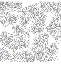 floral texture with chamomile on vector image