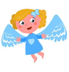 Flying angel vector