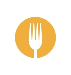 fork food utensil kitchen icon design vector image