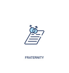 Fraternity concept 2 colored icon simple line vector